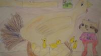 Ксюша Сомлякова нарисовала нам курочку - и цыплят.