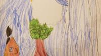 Сарвиноз умеет читать и любит рисовать!