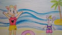 Ксюша и Аня Куралех нарисовали Шуню и Веснушку.