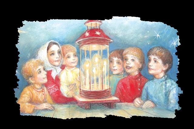 Рождественский фонарь.