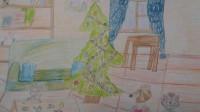 Надя Винник рисует зиму в Шишкином Лесу.