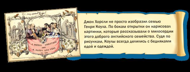 История рождественской открытки.