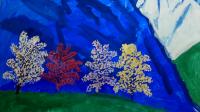 Саша Шебаршов рисует Гималаи