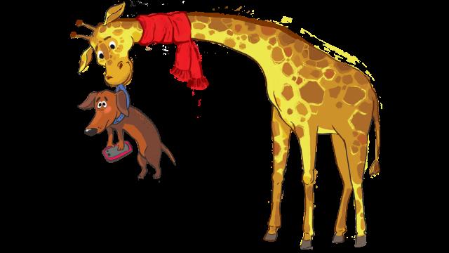 Как жираф таксу спасал
